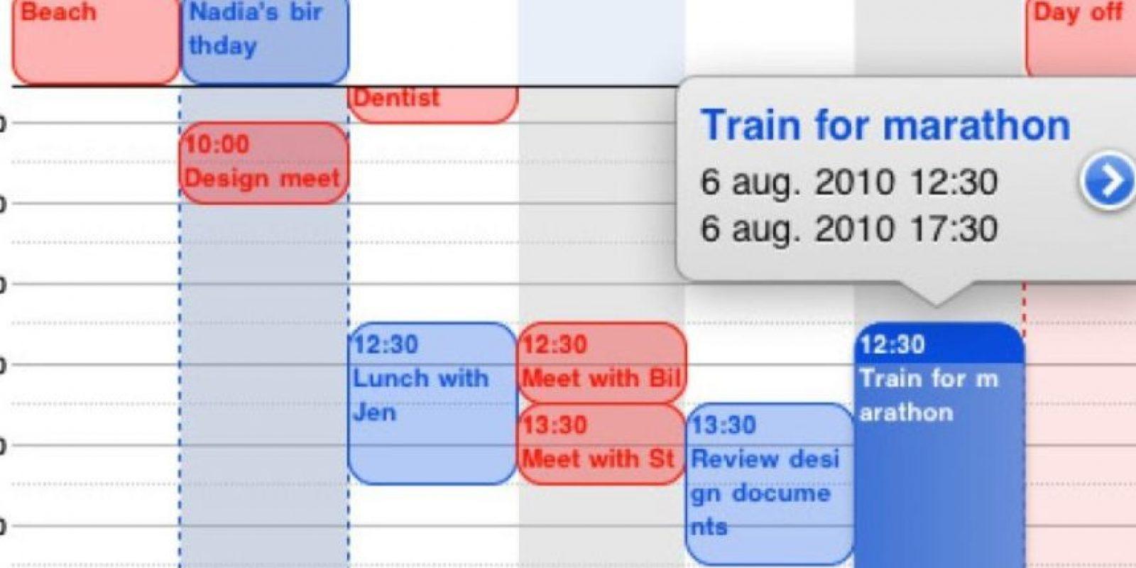Calendario a detalle. Girar el iPhone en posición horizontal hará que les proporcione mayores datos sobre sus citas, horarios, lugares, entre otros. Foto:vía cdn.wpnderfulengineering.com