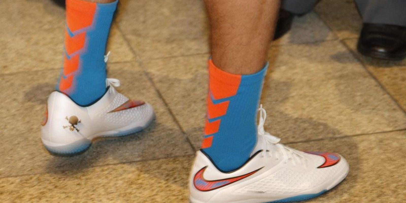 Los zapatos Nike modelo Hypervenom serán los que usará Marco Pappa en su primera etapa con el patrocinio de la firma. Foto:Fernando Ruiz