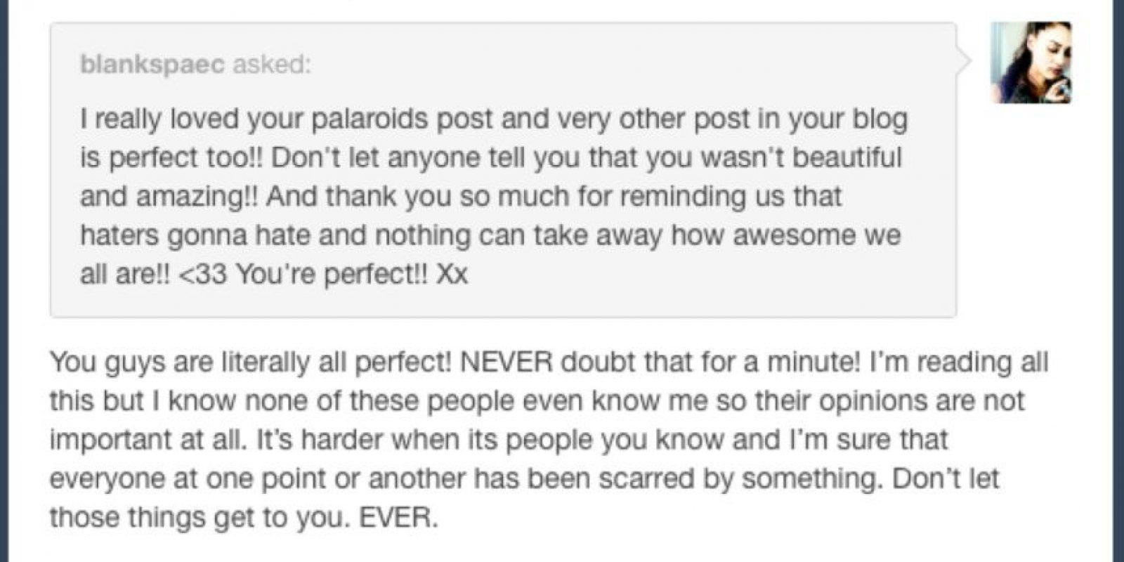 Sin embargo, otros fans la apoyaron. Foto:Tumblr