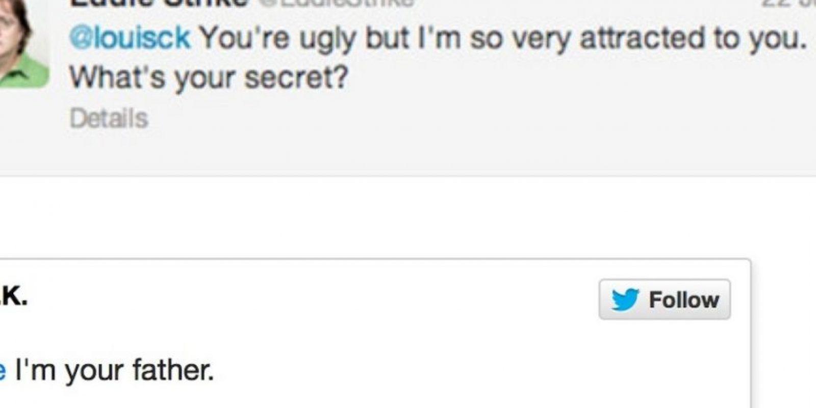 """Alguien le dice al actor Louis C.K: """"Eres feo pero me atraes. ¿Por qué será?"""". Este responde: """"Porque yo soy tu padre"""" Foto:Twitter"""