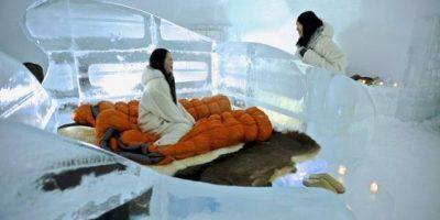 Suite de hielo en un hotel de Japón permite dormir a 8 grados bajo cero