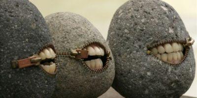Rocas con dientes. Divino. Foto:Reddit