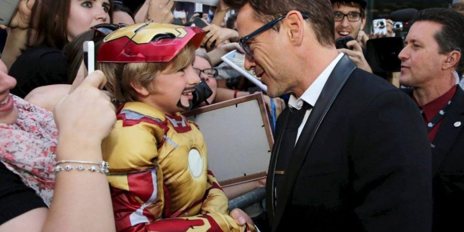 También es genial con sus fans más pequeños Foto:Facebook/Robert Downey Jr.