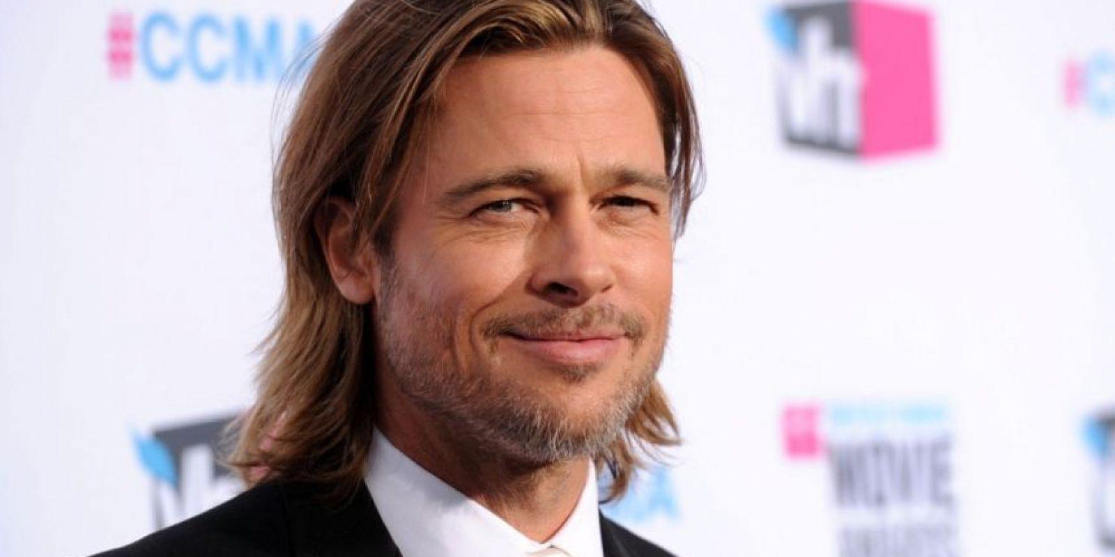 Ha cambiado mucho. Es Brad Pitt Foto:Getty Images