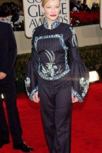 Cate Blanchett, antes de ser ícono de moda. En 2002. Desatinada. Foto:Getty Images