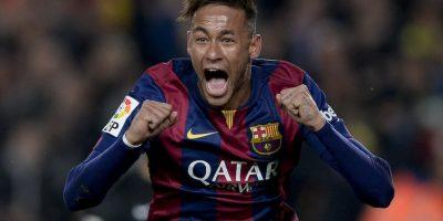 Neymar anotó en la victoria del Barcelona 3-1 ante el Atlético de Madrid. Foto:AFP