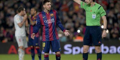 """El argentino Lionel Messi aseguró que es """"mentira"""" que quiera marcharse del club azulgrana. Foto:AFP"""