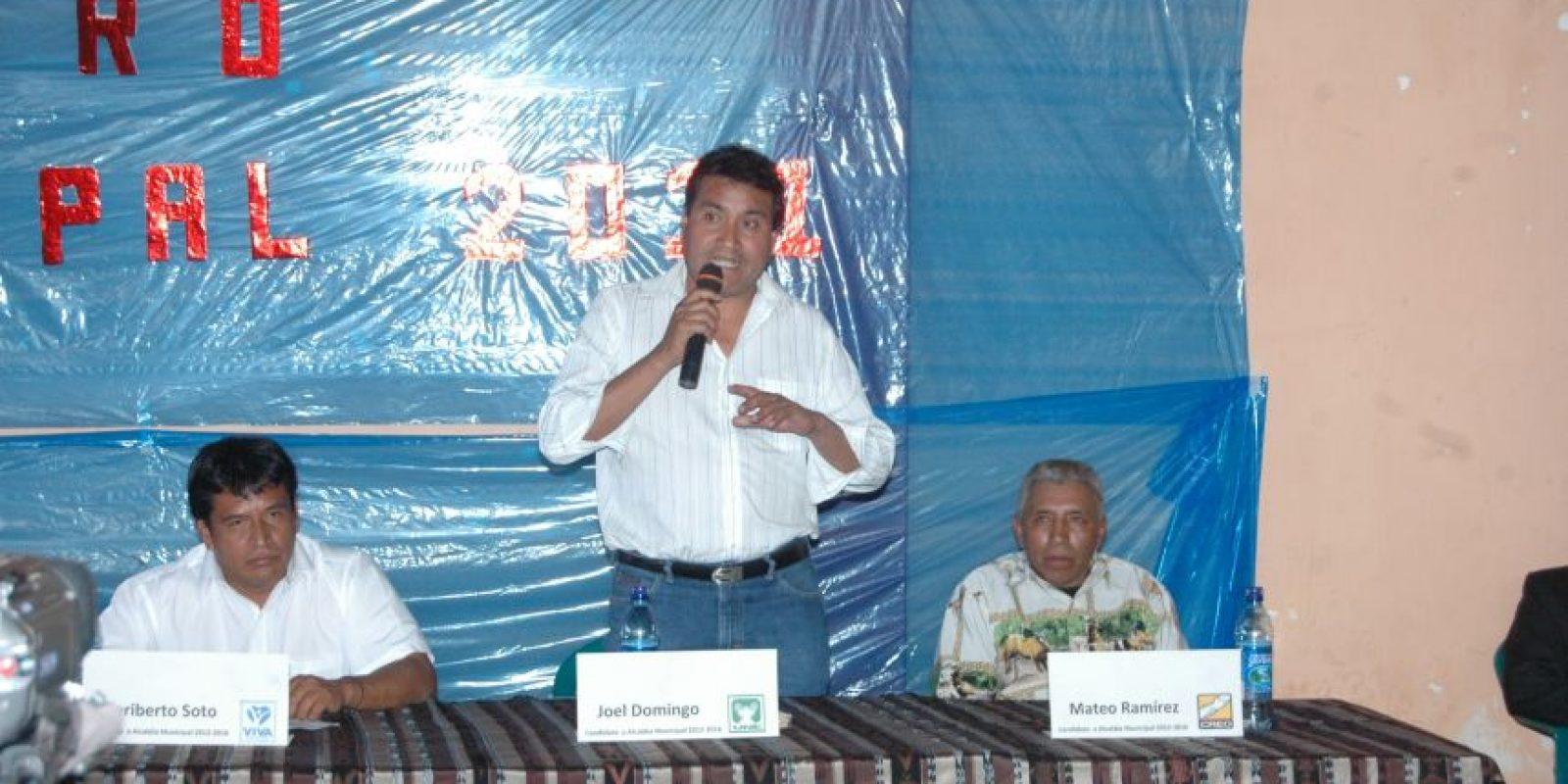 Joel Domingo, alcalde de San Miguel Ixtahuacán, San Marcos. Foto:Publinews