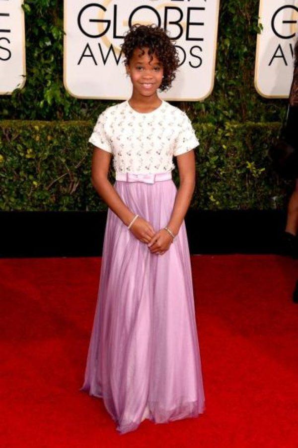 Qvenzane Wallis, con un vestido apropiado para su edad Foto:Getty Images