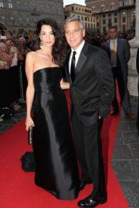 Junto a su esposa Amal Alamuddin Foto:Getty Images