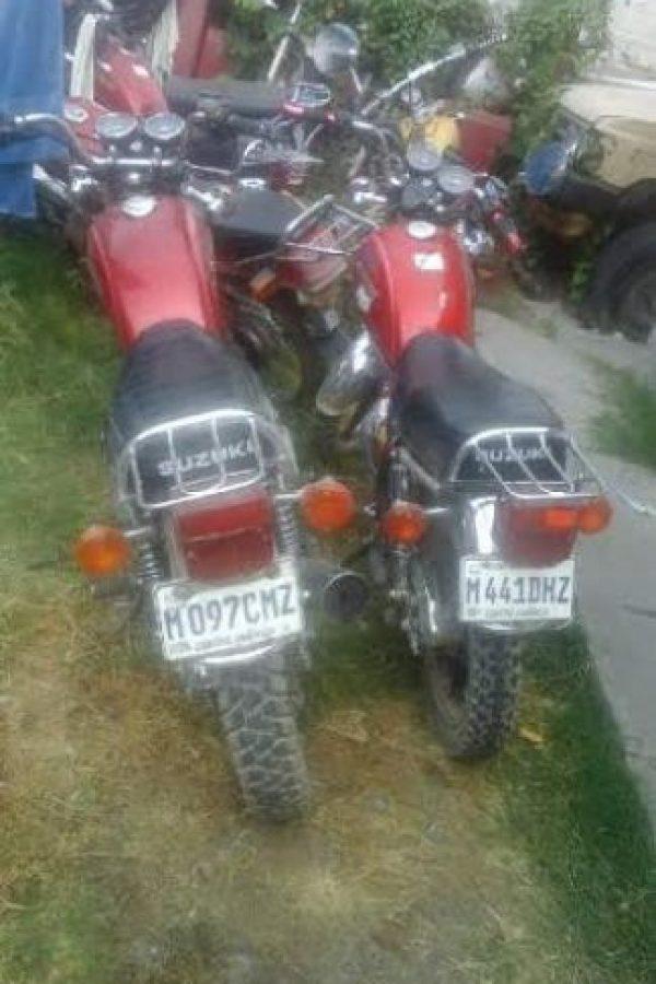Los supuestos sicarios huían en dos motocicletas. Foto:PNC