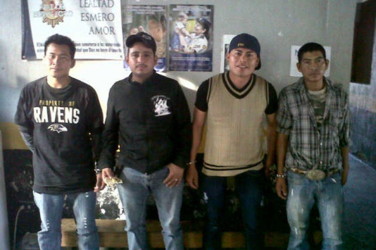 Las capturas en Quezaltepeque, Chiquimula Foto:PNC
