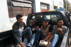 La Policía los detuvo. Foto:PNC