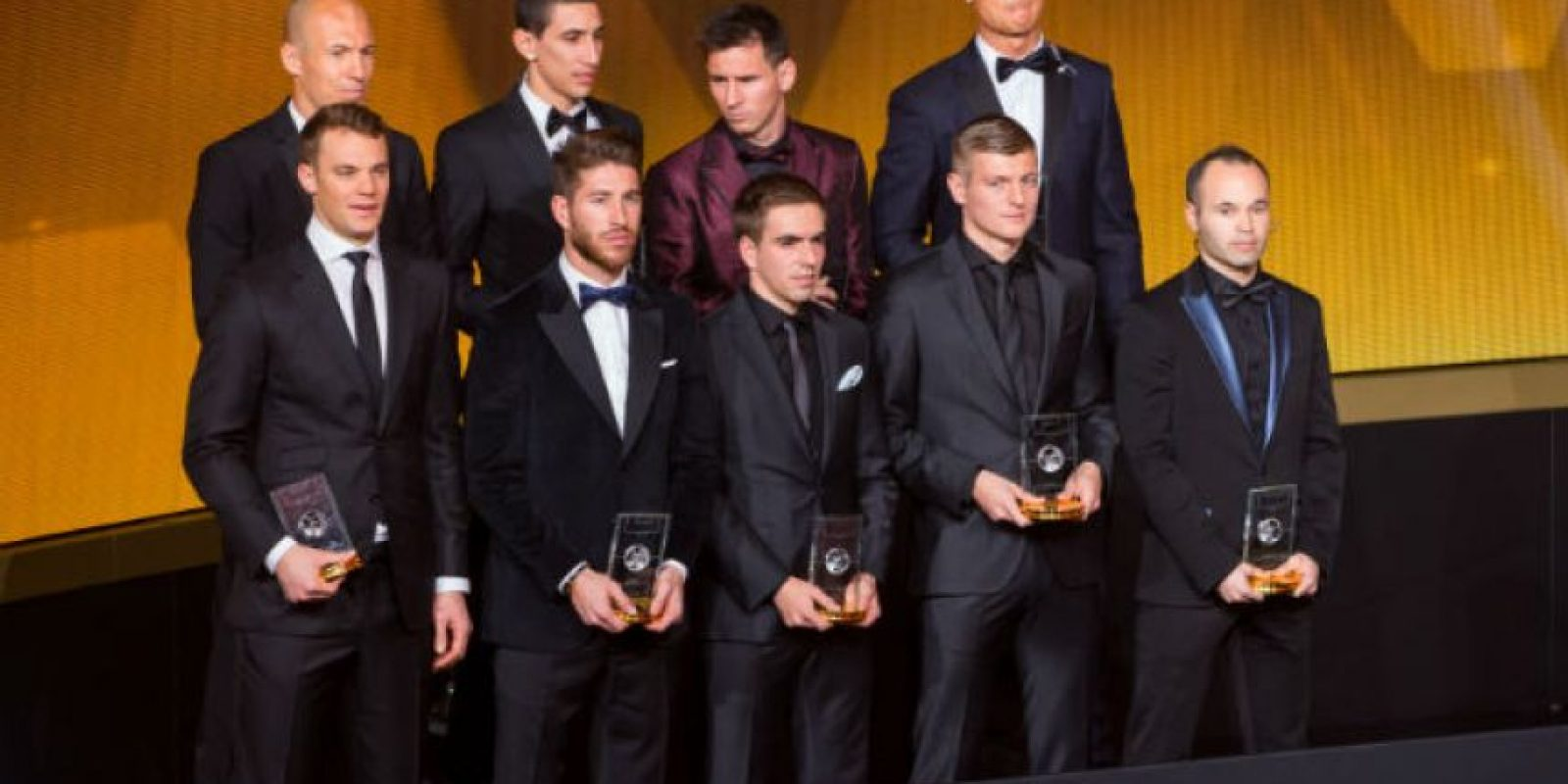 Los futbolista de FIFPro World XI Foto: Getty Images