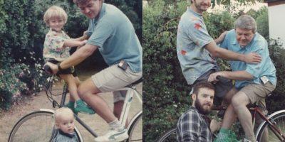 FOTOS. Ellos revivieron su infancia de una manera graciosa