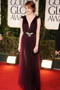 Emma Stone sabe lo que hace, en Armani. Una de las mejores vestidas de la noche. Foto:Getty Images