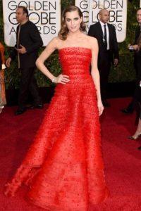 Allison Williams, en rojo. Foto:Getty Images