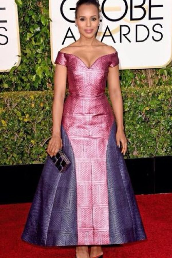 Kerry Washington en un vestido muy desfavorecedor. Foto: Getty Images