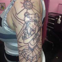 Después hizo el boceto de Sailor Moon. Foto:WasHuZ/Imgur