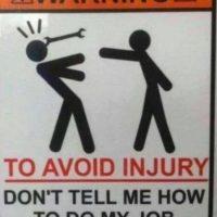 """""""Para evitar lesiones, no me diga cómo hacer mi trabajo"""" Foto:TFR"""