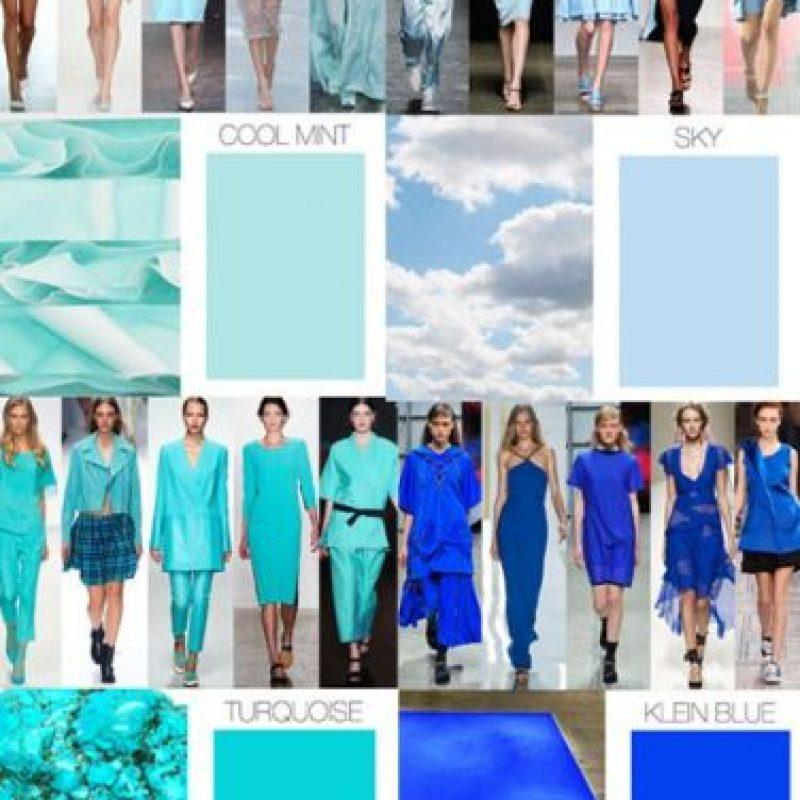 Asimismo, el azul Klein y el aqua también se espera que vuelvan a las tiendas. Foto:Fashion Business/Trend Forecast