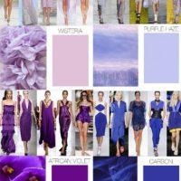 Colores como el azul carbón y el violeta ya se vieron en la alfombra roja. Foto:Fashion Business/Trend Forecast