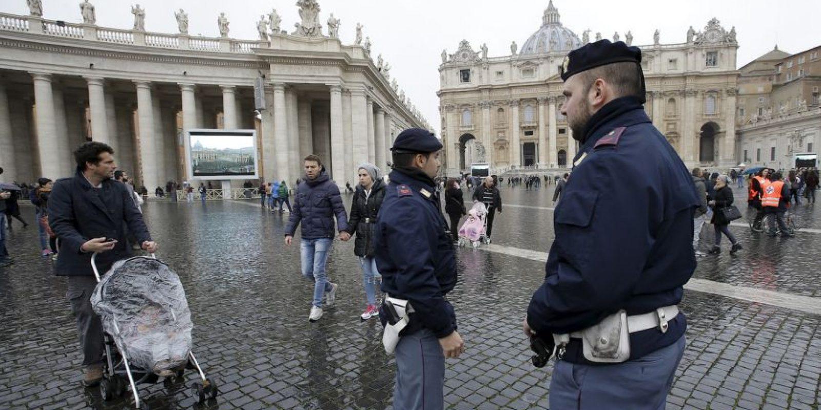 La seguridad es extrema en el Vaticano. Foto:AP