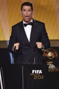 El grito de Cristiano Ronaldo de ha vuelto viral en las redes sociales. Foto:AFP
