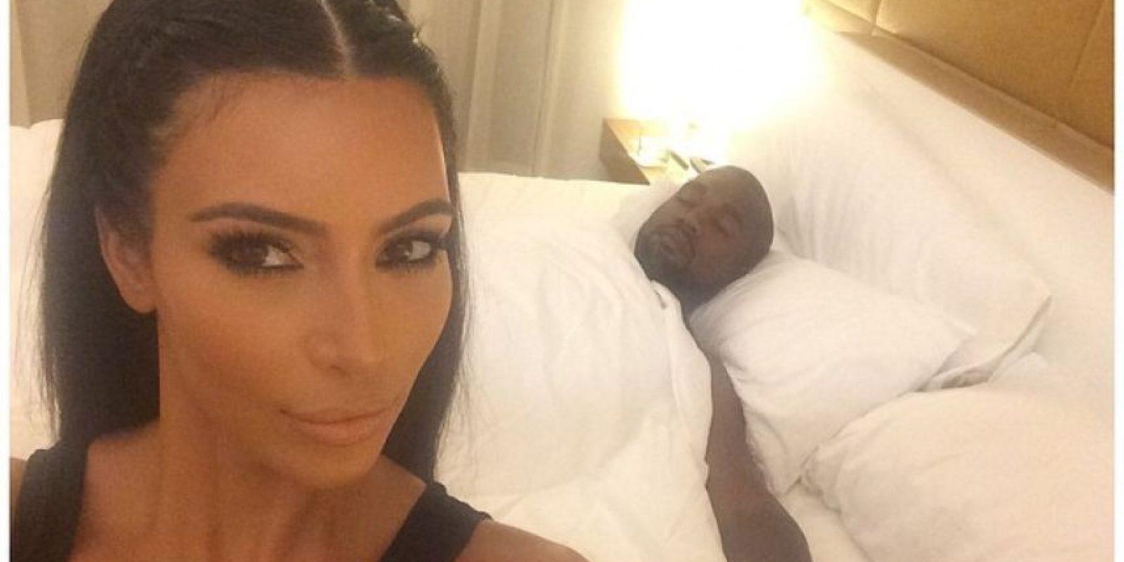 y su look antes de dormir Foto:Instagram/Kim Kardashian
