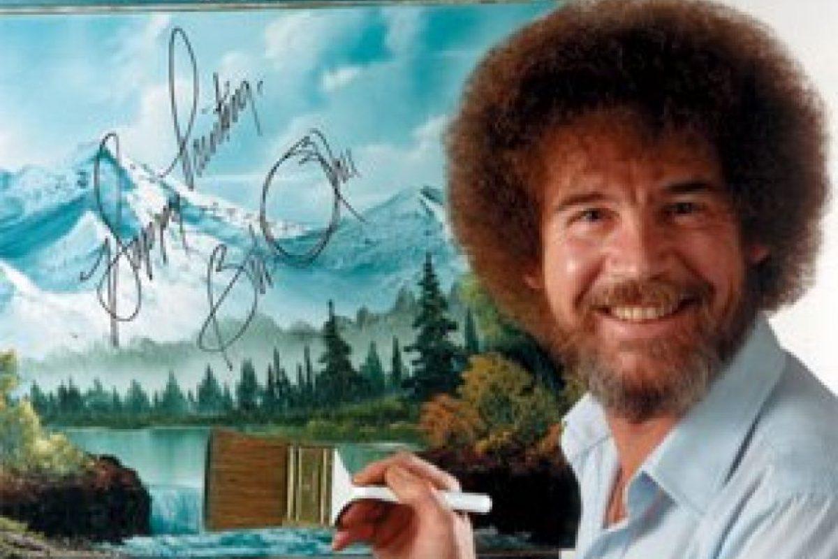 Antes de convertirse en una estrella de la pantalla chica, Bob Ross sirvió a la fuerza aérea de Alaska Foto:Facebook/The Joy of Painting
