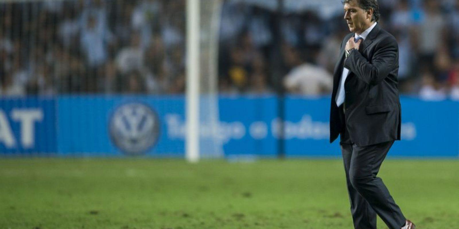 Gerardo Martino: Lionel Messi, Ángel Di Maria y Javier Mascherano Foto:Getty