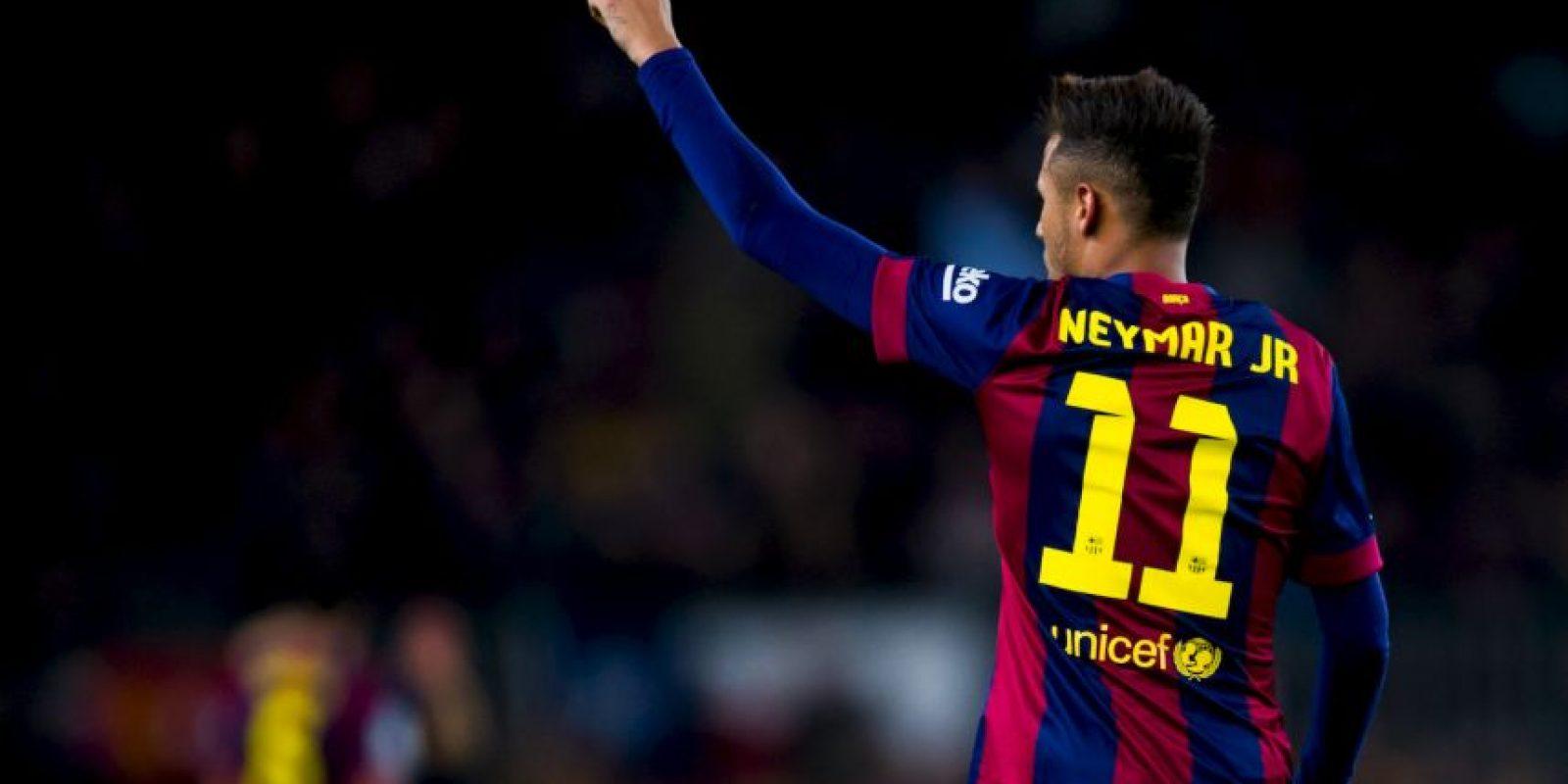 Neymar: Lionel Messi, Cristiano Ronaldo y Javier Mascherano Foto:Getty