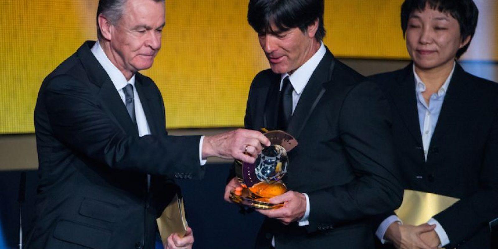 El técnico alemán Joachim Löw obtuvo el galardón al mejor de 2014. Foto:Getty Images