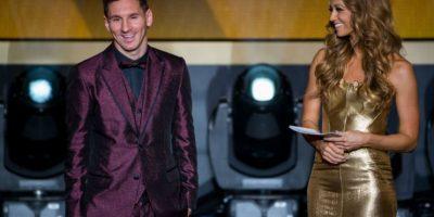 Lionel Messi: Ángel Di María, Andrés Iniesta y Javier Mascherano Foto:Getty