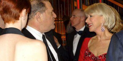El mega productor Harvey Weinstein conversa con Helen Mirren. Foto:J. Melnick desde Los Ángeles para Metro