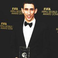 Ángel Di María formó parte del once ideal FIFpro. Foto:FIFA