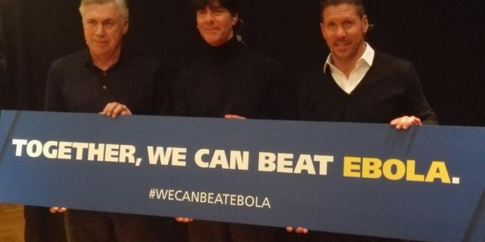 Carlo Ancelotti, Joachim Löw y Diego Simeone. Foto:Twitter.com/Atleti