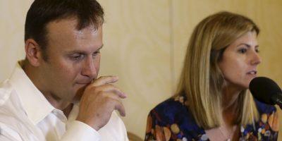 Ofreció una conferencia de prensa, en la que aún se notaba con las defensas bajas Foto:AP