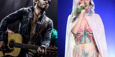 Fotos. Katy Perry y Lenny Kravitz juntos para el show del Super Bowl