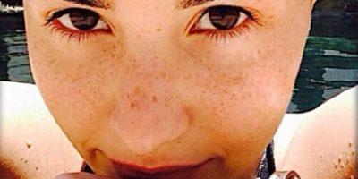 Mientras aquí vemos a Demi Lovato sin alguna gota de pintura Foto:Instagram/Demi Lovato