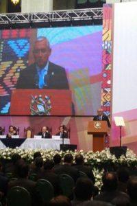 Se destacó, al inicio de la ceremonia, la ausencia de Luis Rabbé. Foto:Publinews