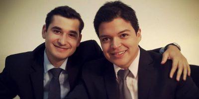 Victor Ávila junto a su amigo Josué Sánchez Foto:Facebook