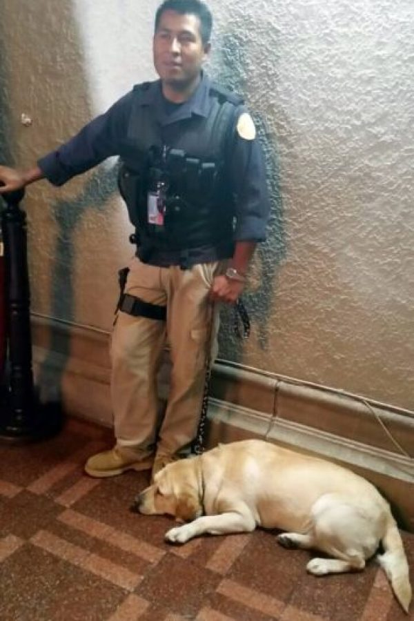 """""""Selena"""" estuvo a cargo de la seguridad junto con la SAAS. Foto:Publinews"""