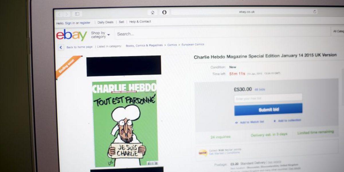 Hasta 11 mil por ciento aumenta el precio de Charlie Hebdo en Internet