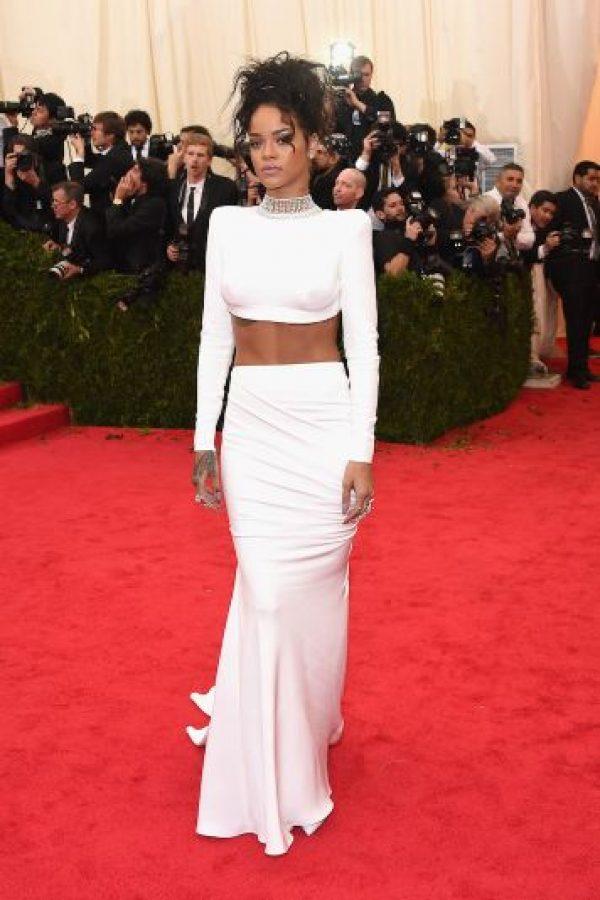 Rihanna-Ocupó el octavo lugar. Foto:Getty