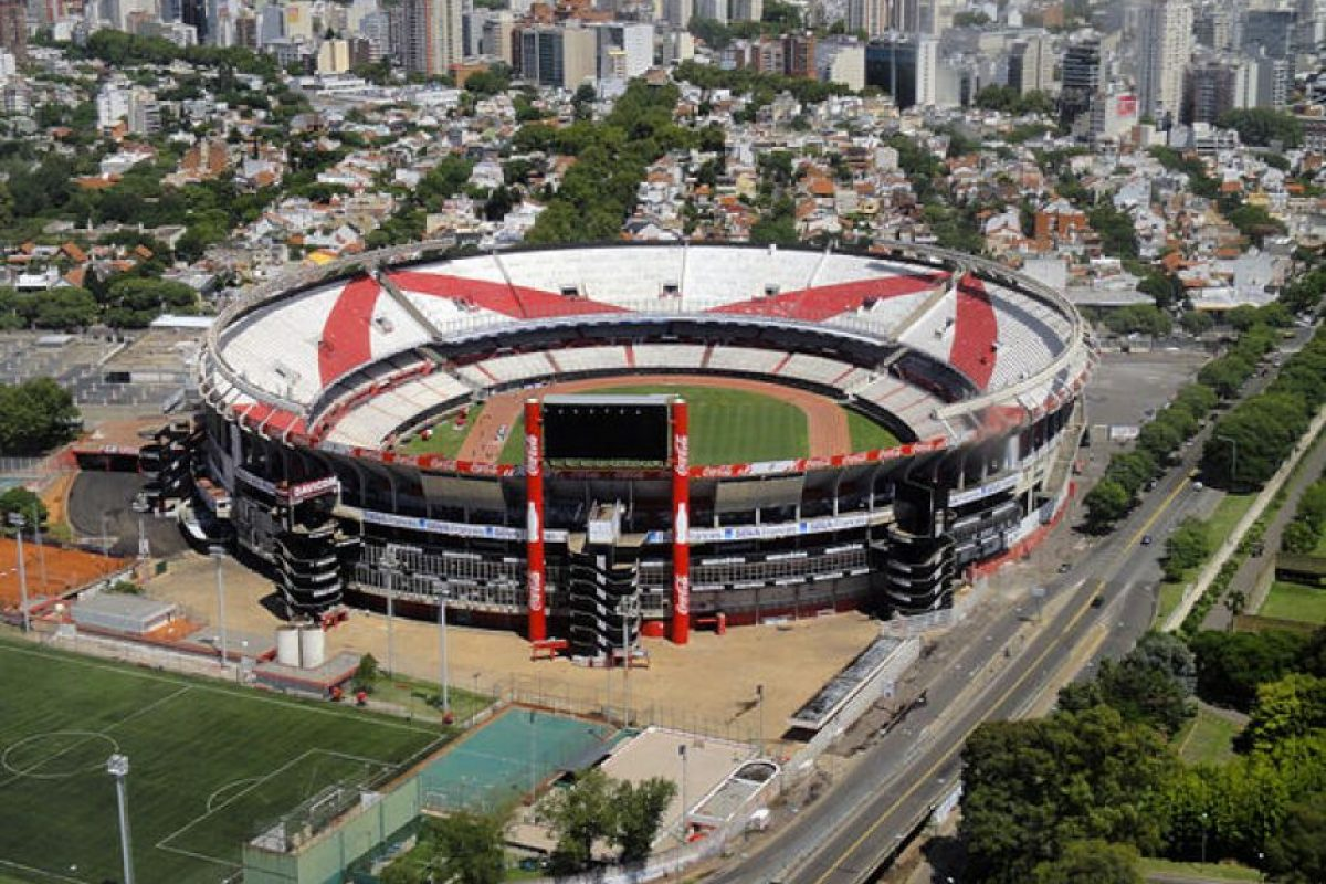 Monumental de River Plate: Aunque popularmente es conocido como Monumental, su nombre real es Antonio Vespucio Liberti Foto:Getty