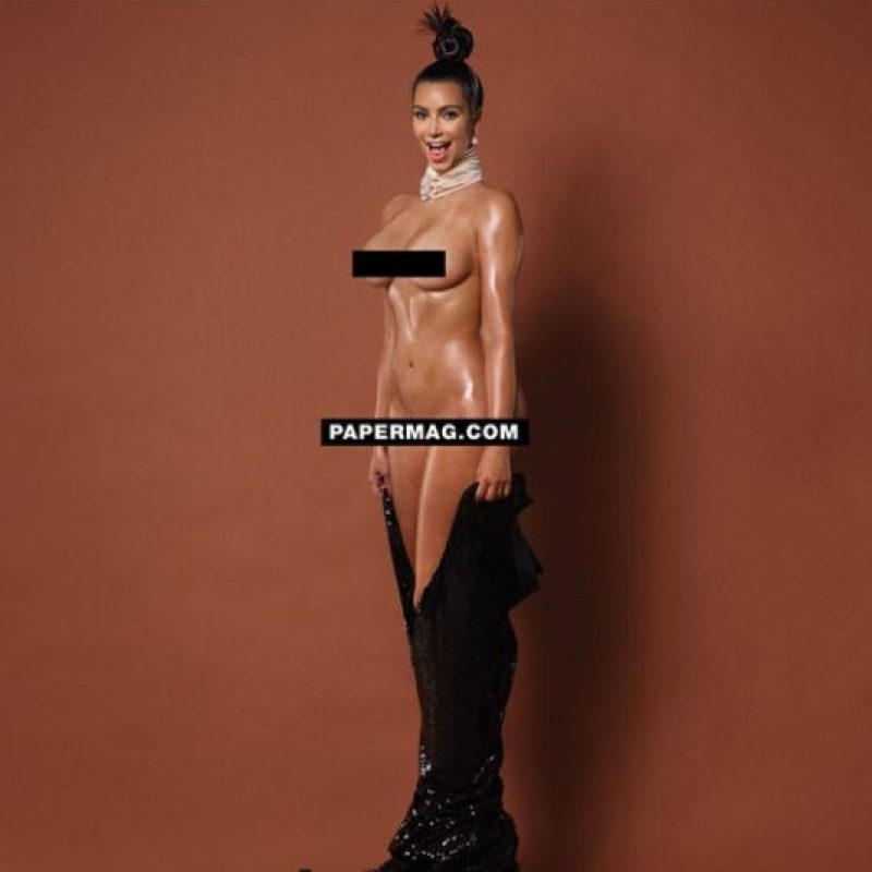 "Kim Kardashian en la revista ""Paper Magazine"" Foto:Instagram/Paper"