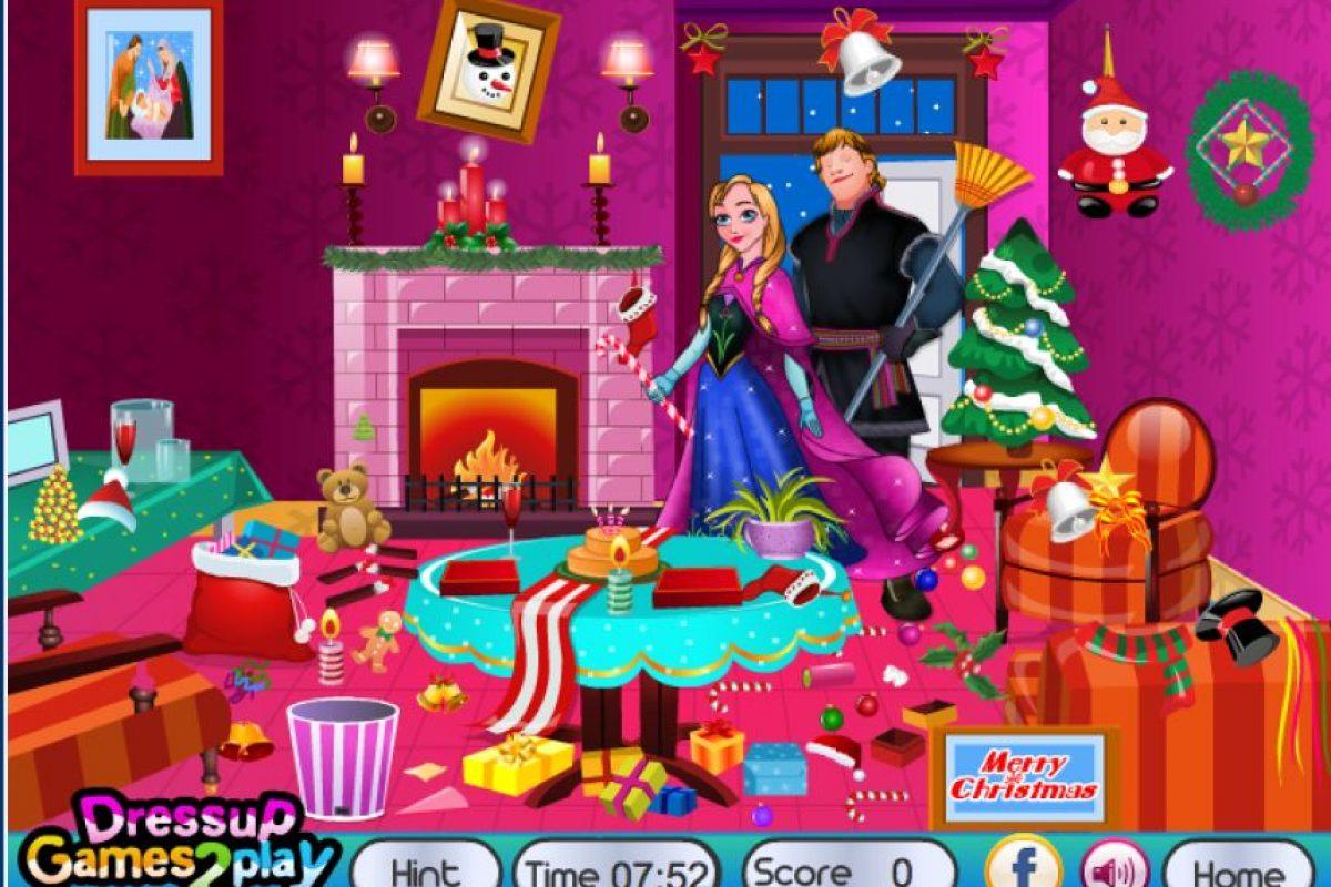 Para ayudar a Kristoff y Anna con la limpieza de su casa Foto:Frozen Games