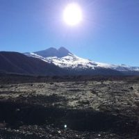 Llaima en Chile. Foto:instagram.com/sylvain.paget