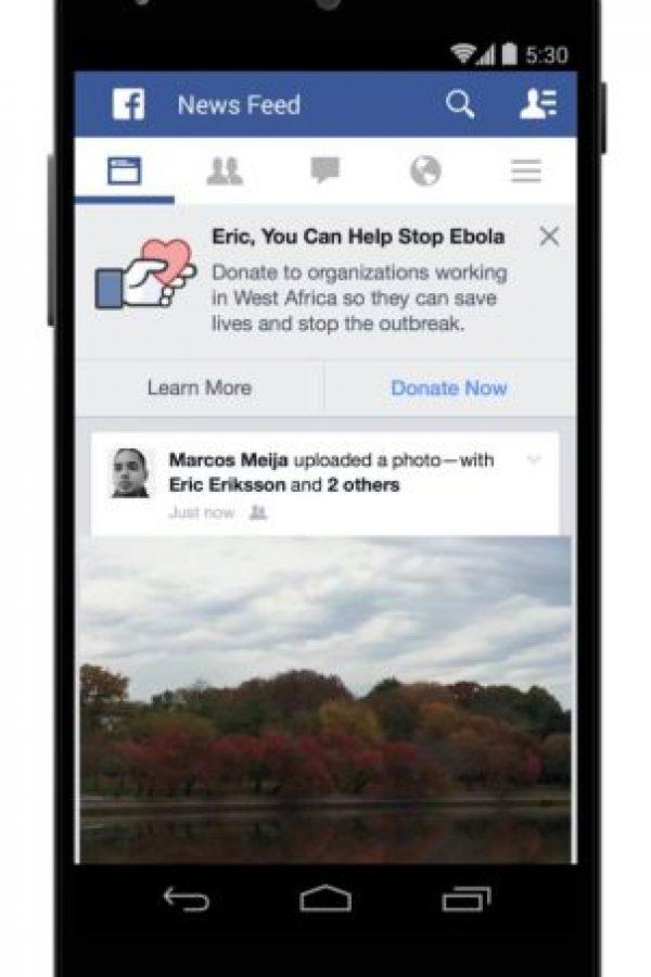 Donaciones y lucha contra el Ébola Foto:Facebook